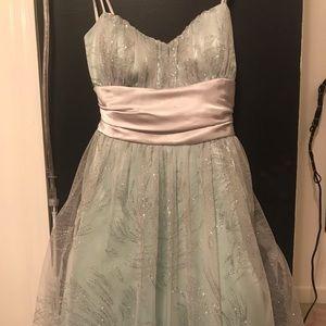 Mint sparkly prom dress